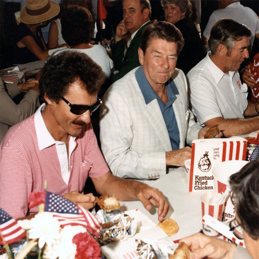 Ronald Reagan Eating Fried Chicken