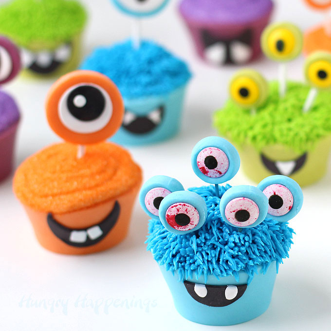 Smiling Monster Cupcakes