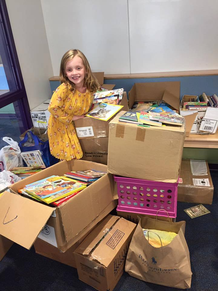 Brooklyn Murray with Collected Books