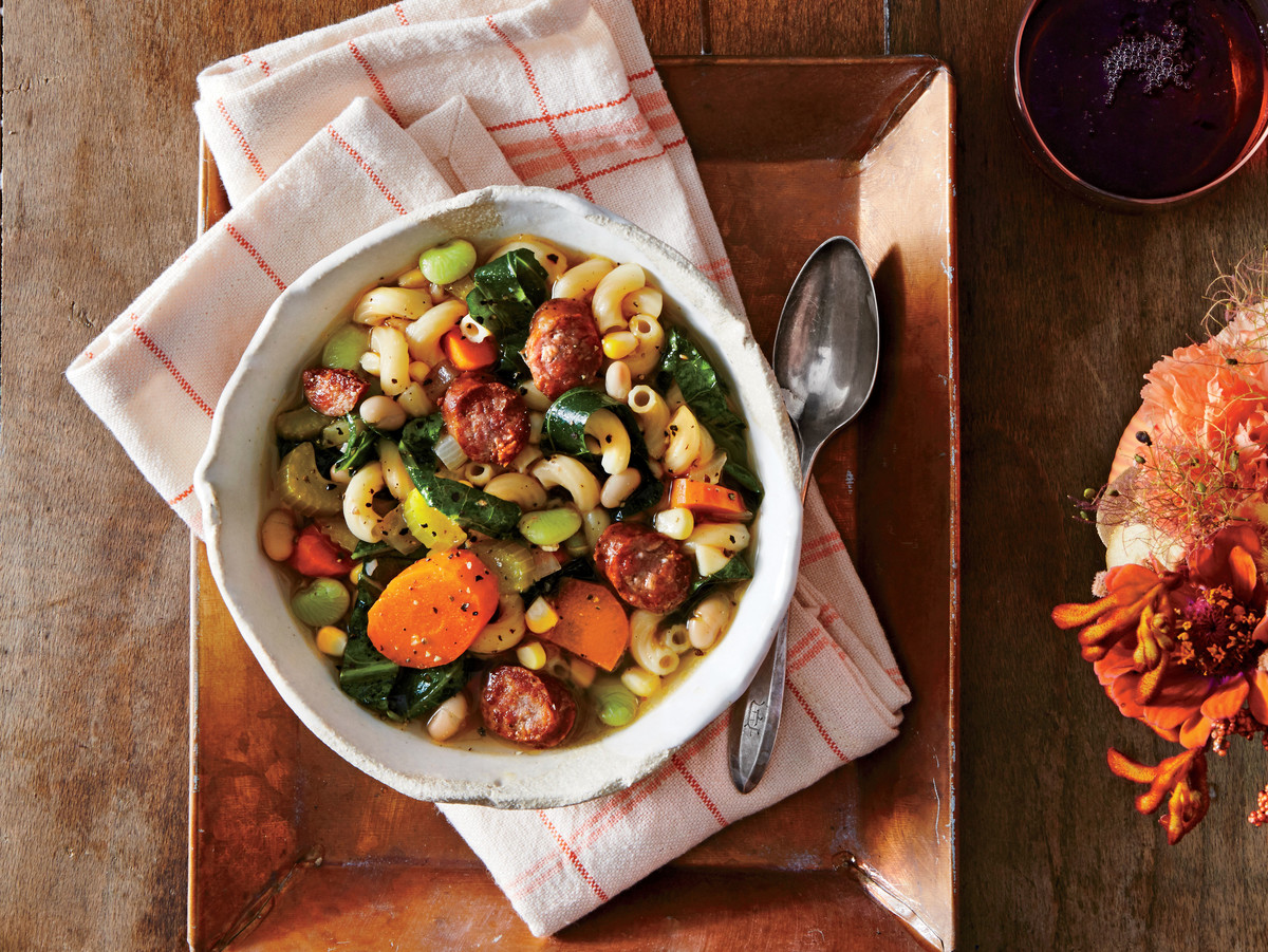 Slow-Cooker Sausage Minestrone Recipe