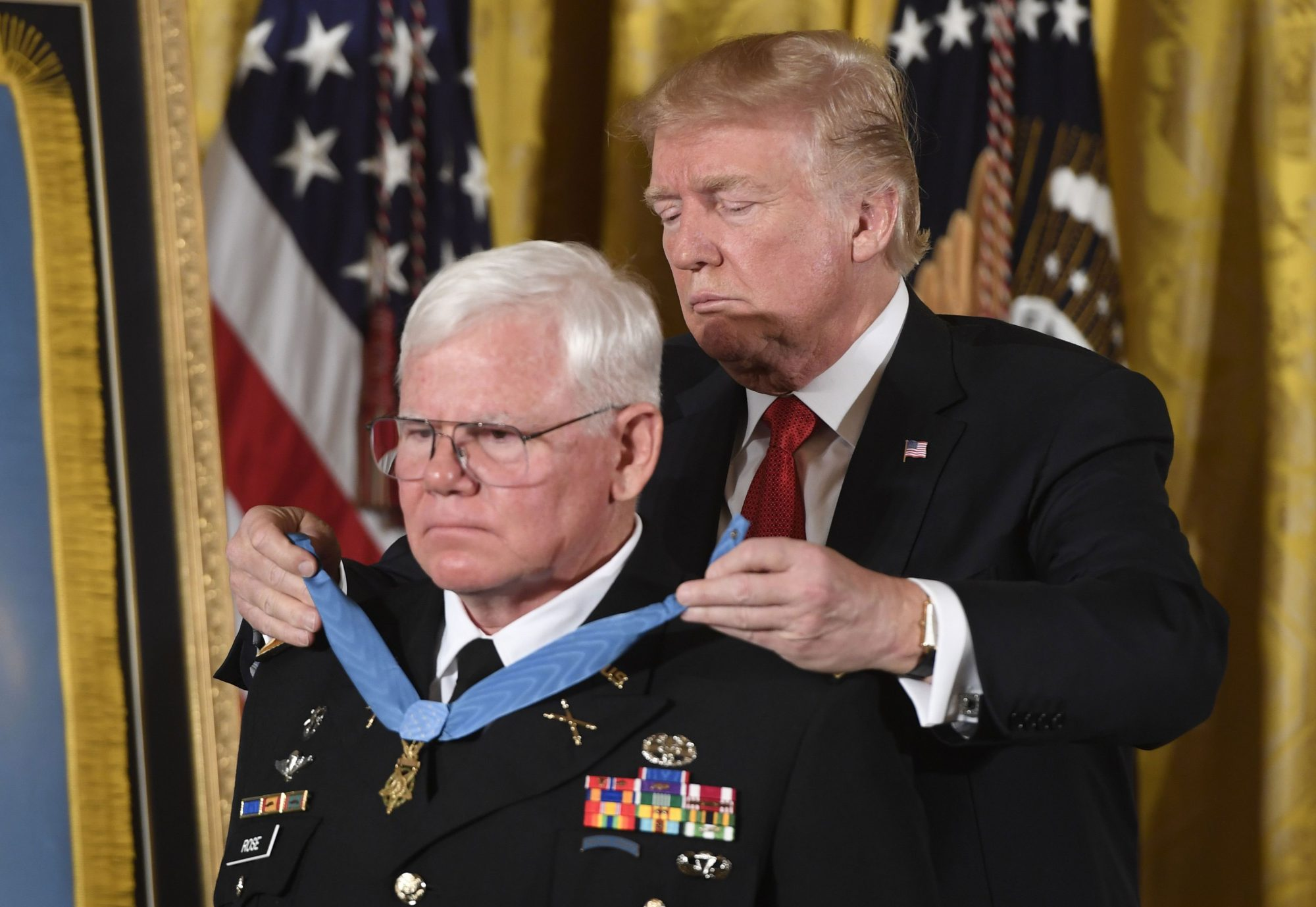President Trump Awarding Medal of Honor to Gary Rose