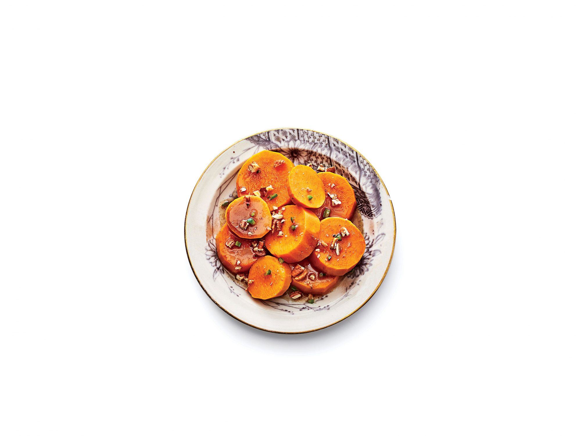 Spicy Candied Yams with Toasted Pecans Recipe Image