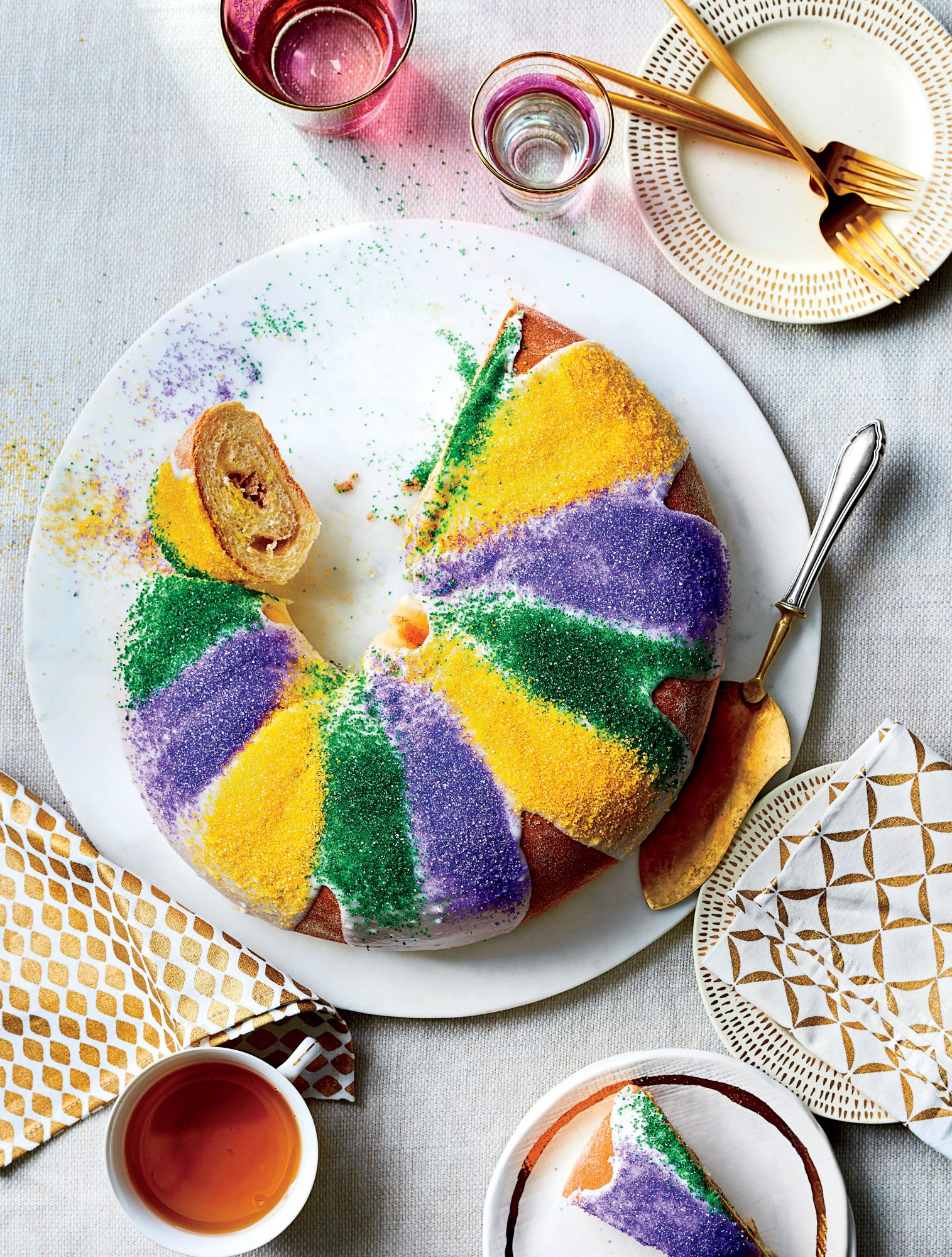 Praline-Cream Cheese King Cakes