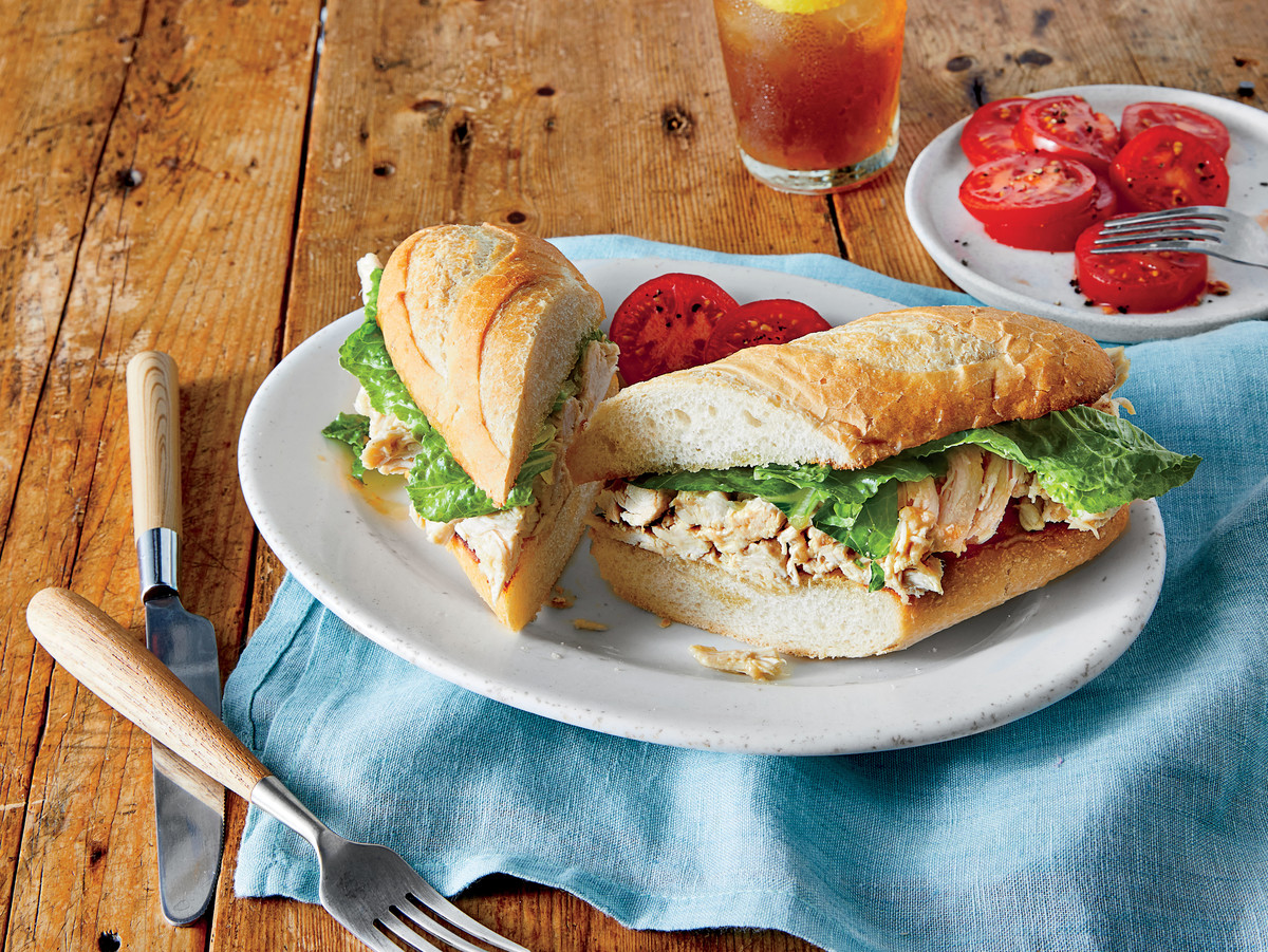 Chicken Caesar Salad Sandwiches