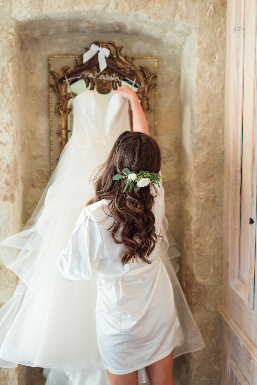 Braided Half-Up with Floral Hairpiece