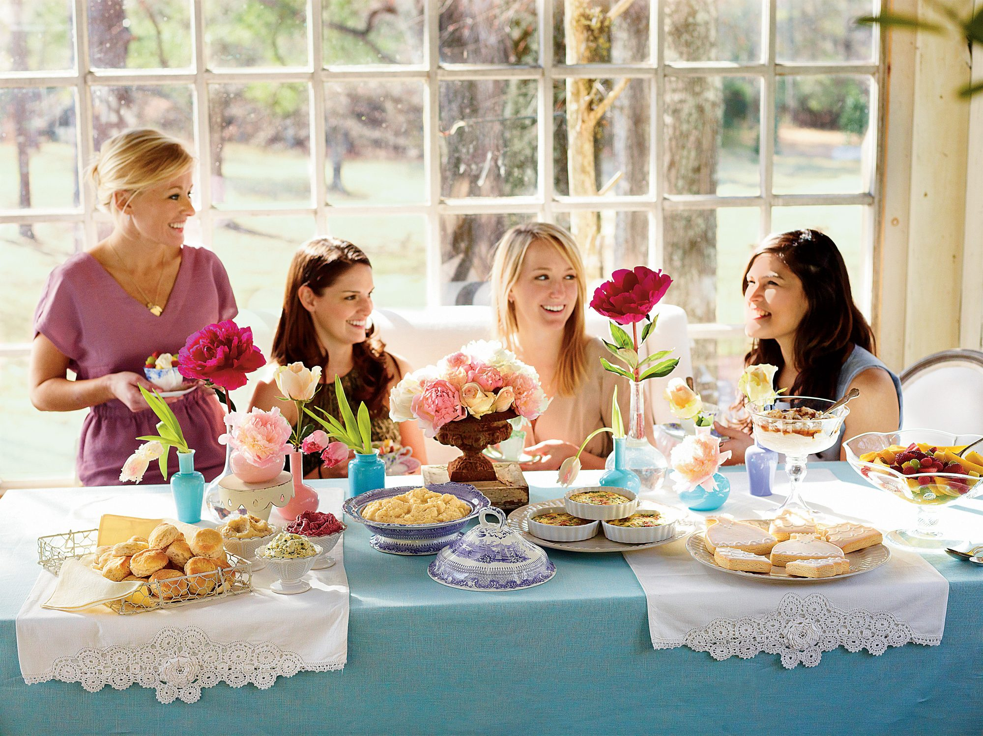 Women at a Brunch Bridal Shower
