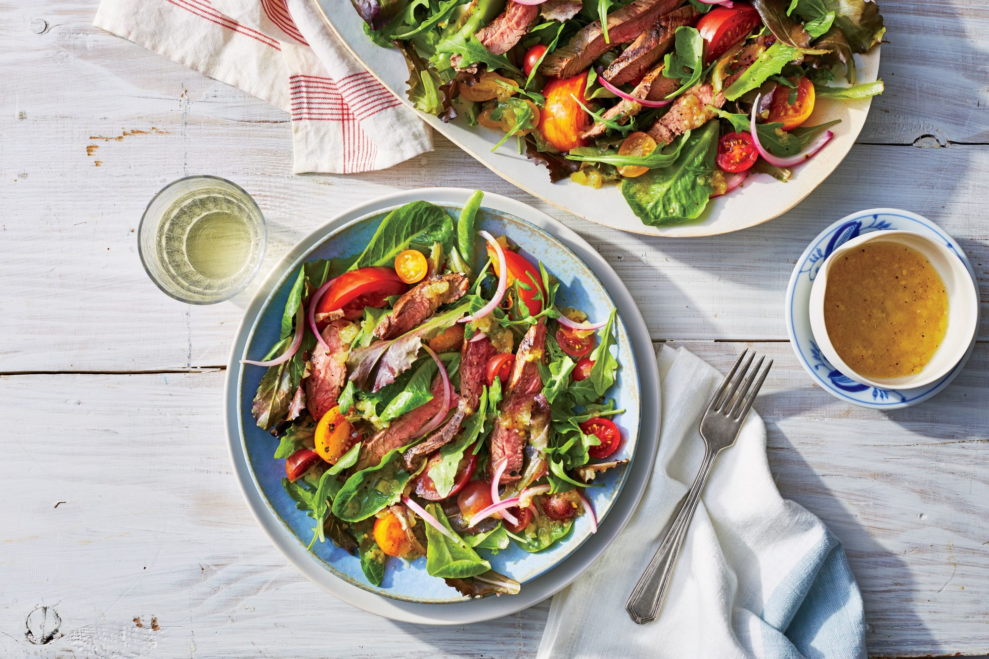 Grilled Steak Salad with Green Tomato Vinaigrette