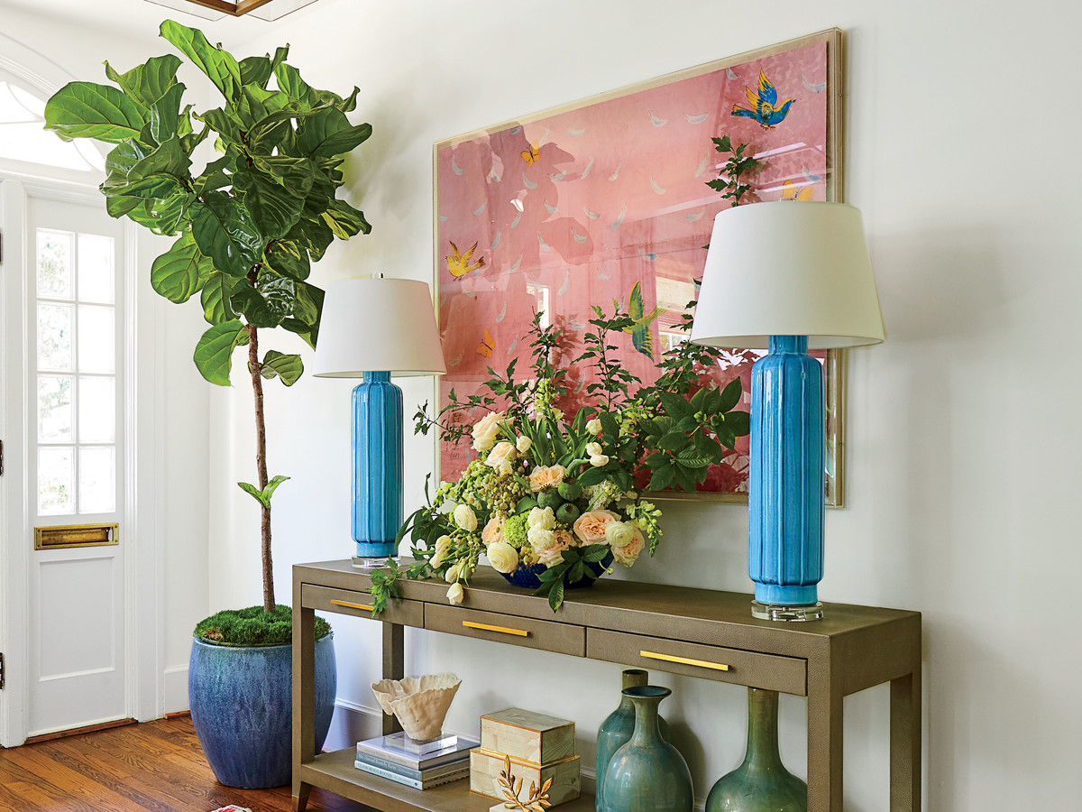 Lindsey Cheek's Home with Fiddle Leaf Fig Tree