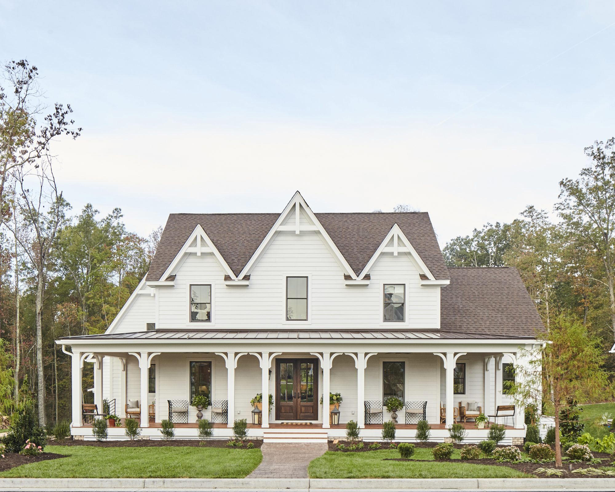 Southern Gothic Farmhouse House Plan Rendering