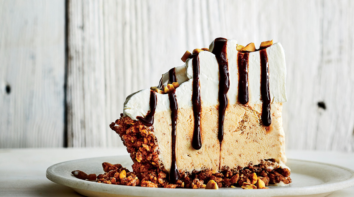 No-Bake Peanut Butter-Fudge Ice-Cream Pie