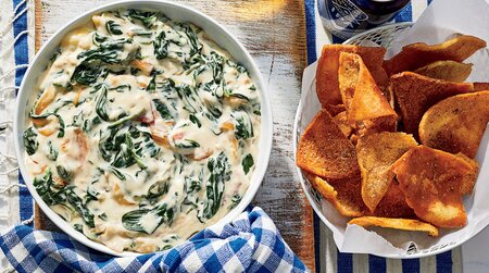 Warm Spinach-Sweet Onion Dip with Country Ham Recipe