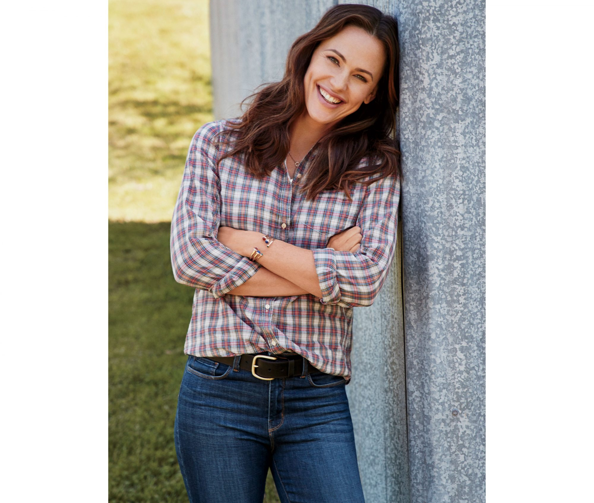 Jennifer Garner in Plaid Shirt