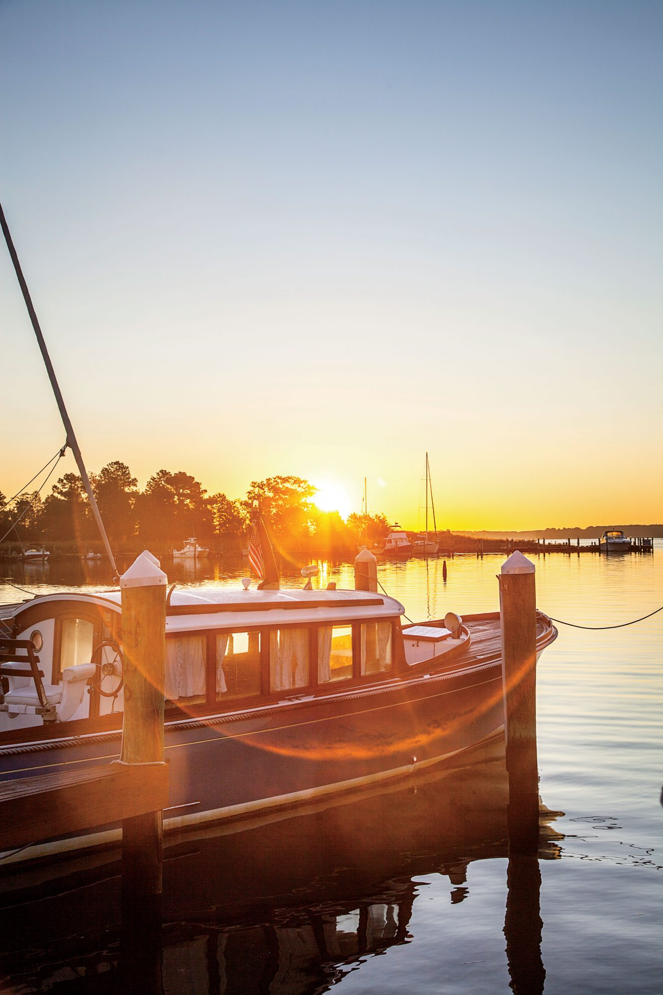 Waterfront View of the Sunrise at the Inn at Perry Cabin by Belmond