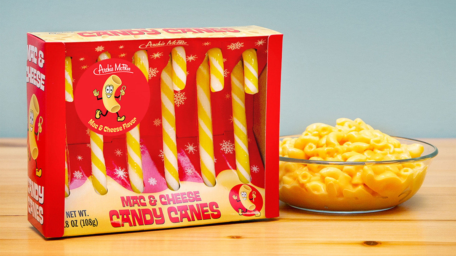 Macaroni and Cheese Candy Canes