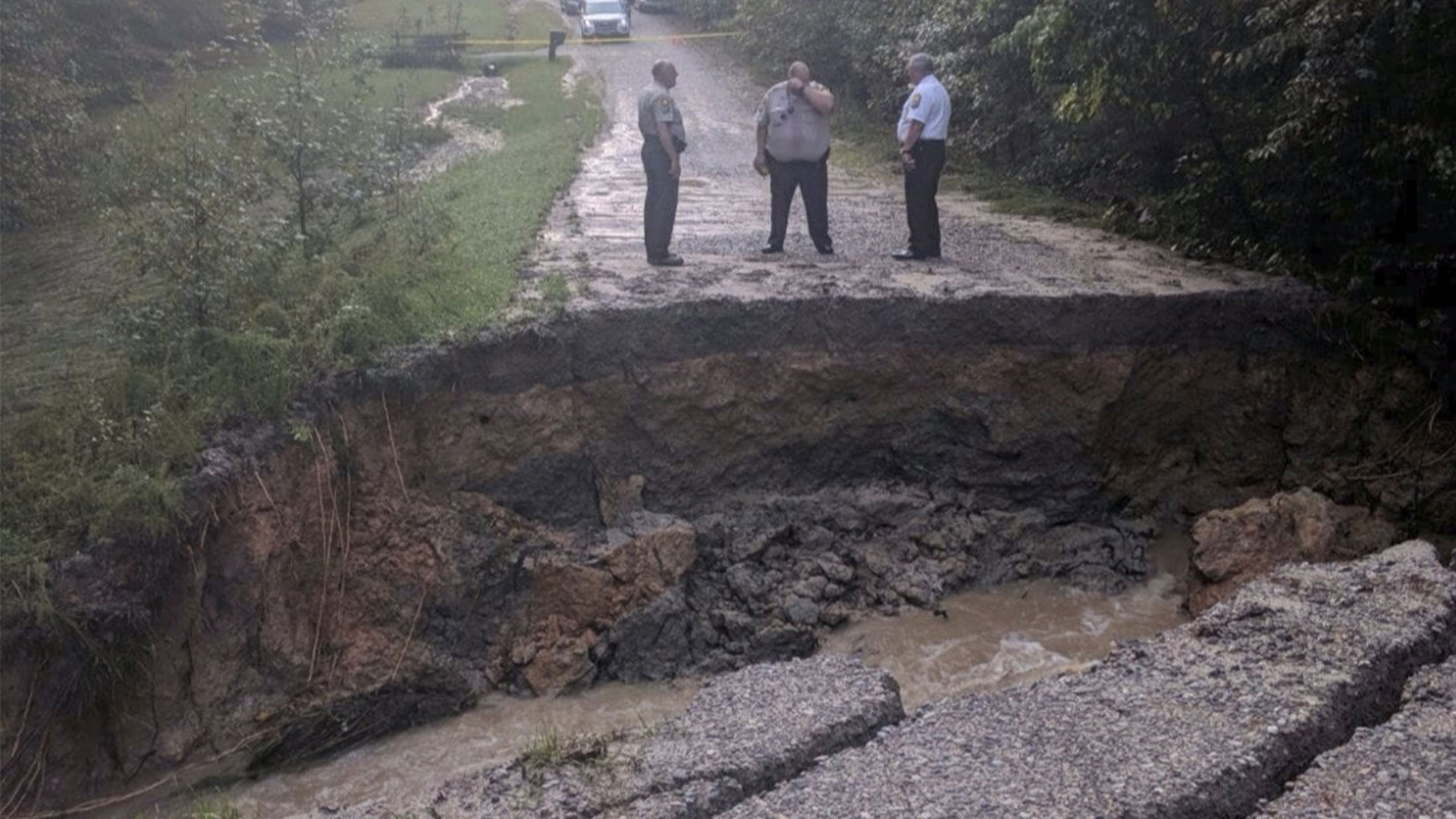 Hurricane Florence Washed Out Road