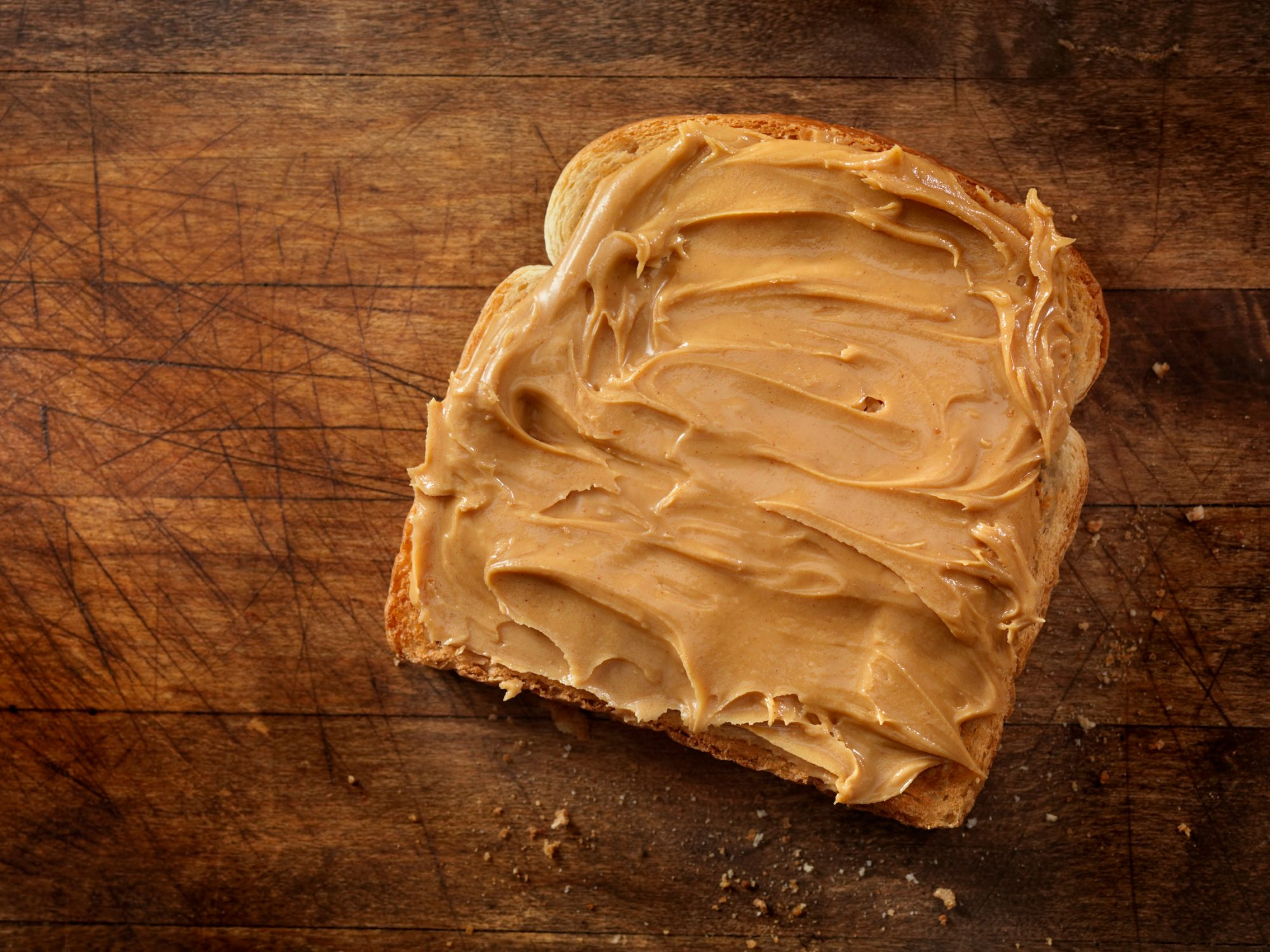 Peanut Butter on Bread Slice