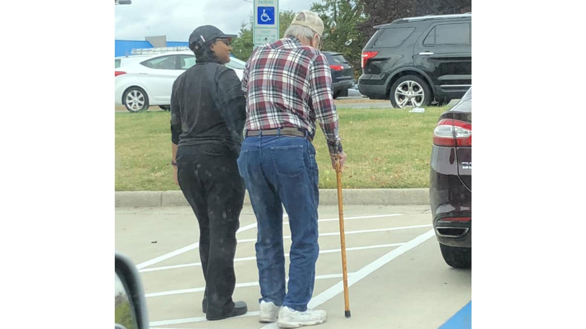 Burger King Employee Helping Man