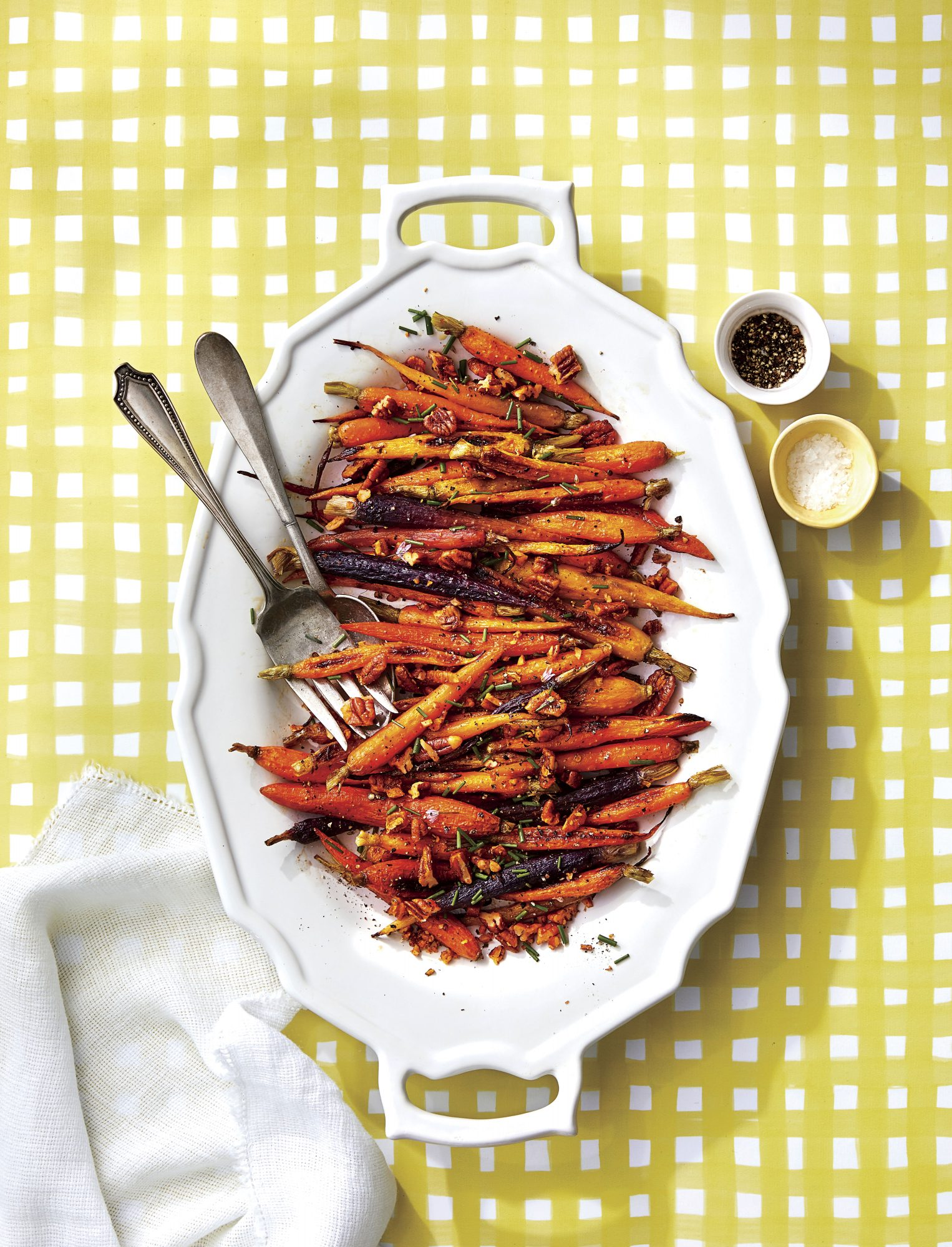 Roasted Carrots with Spiced Pecans and Sorghum