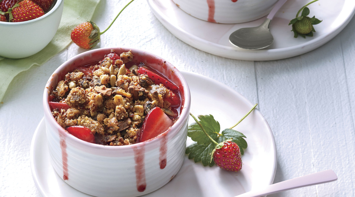 Strawberry-Rhubarb Crisp with Sweet-and-Savory Granola