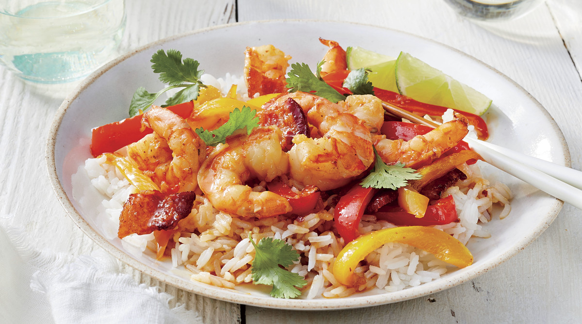 Shrimp Stir Fry with Bacon