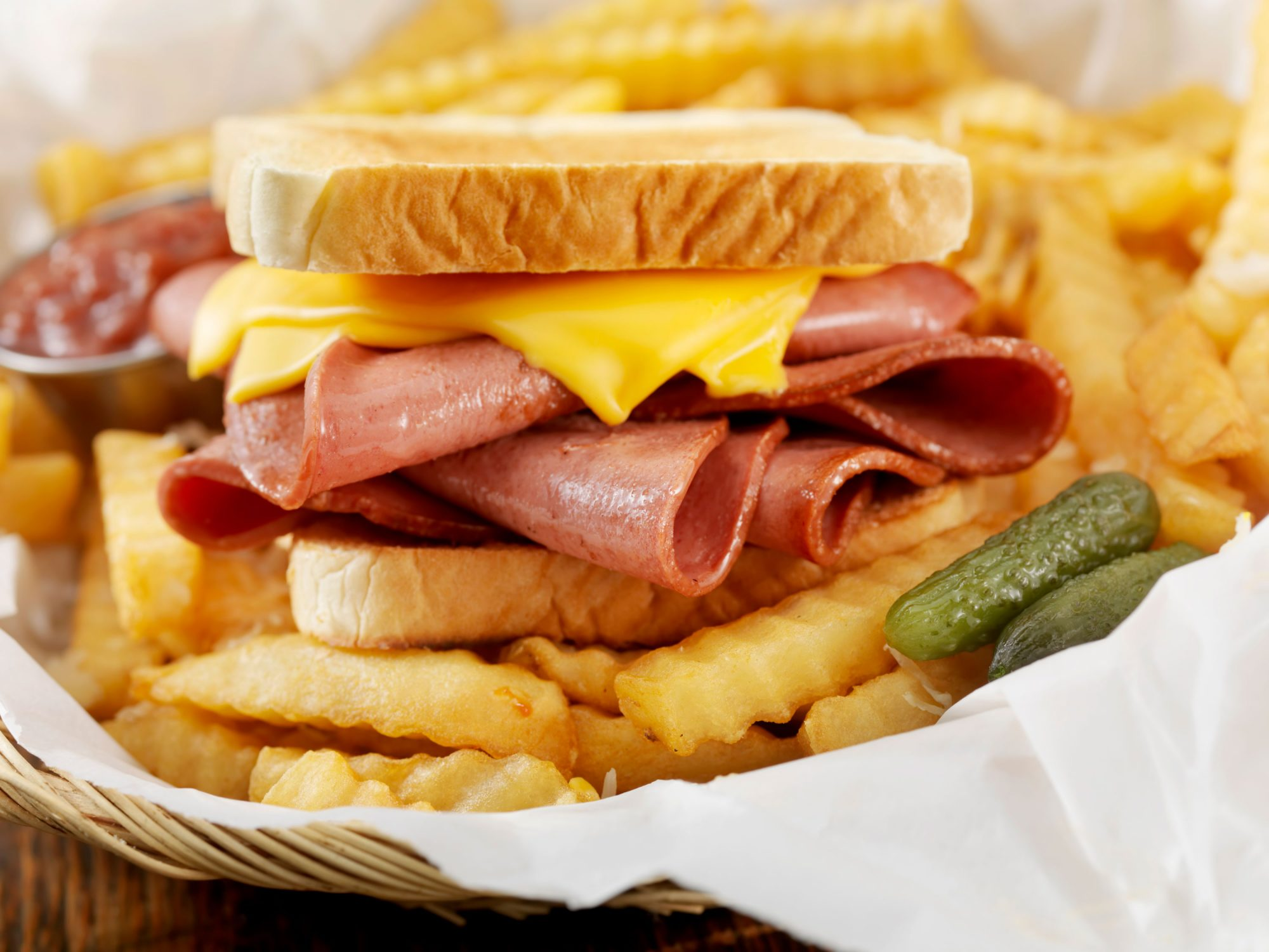 Fried Bologna Sandwich with Cheese