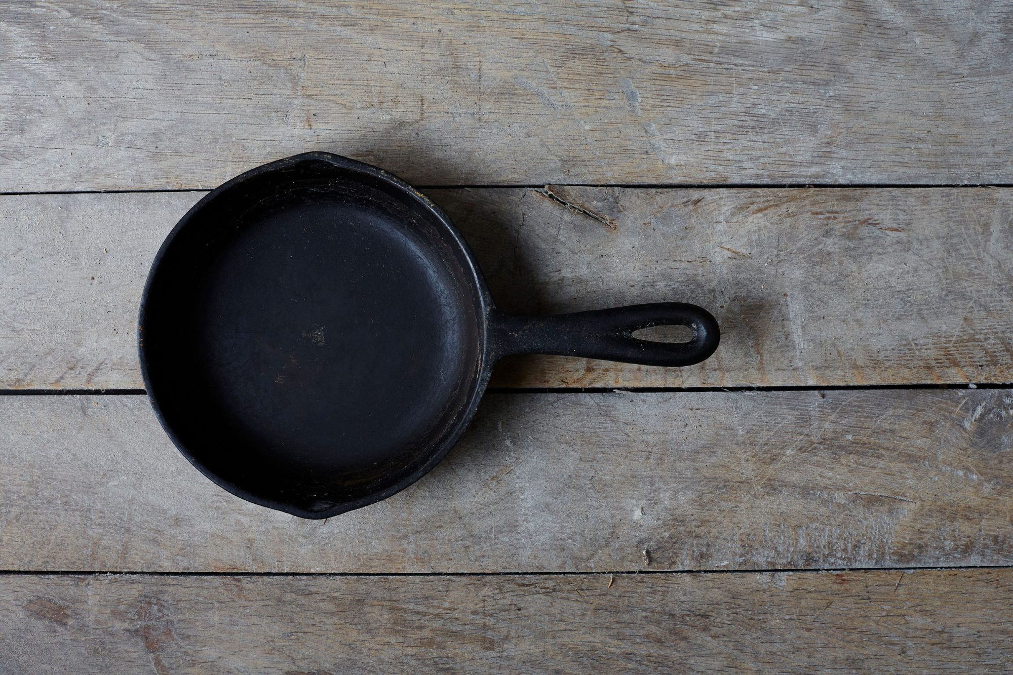 Cast Iron Skillet on Wood Surface