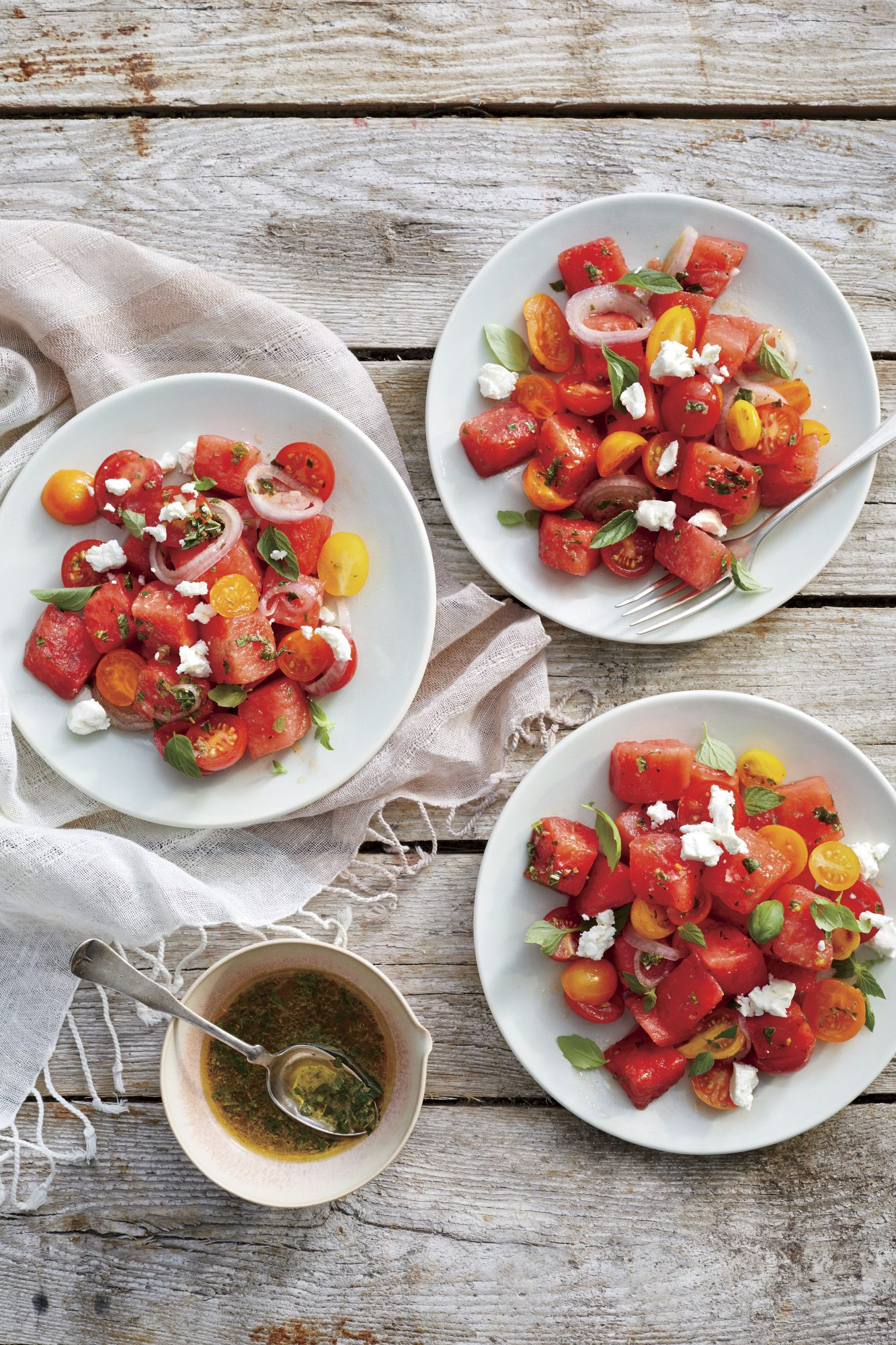 Marinated Watermelon Tomato Salad