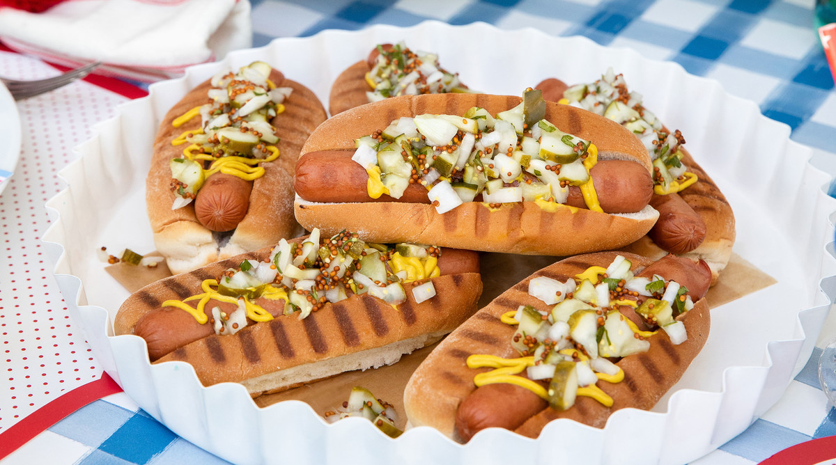 Hot Dogs with Pickle and Parsley Relish