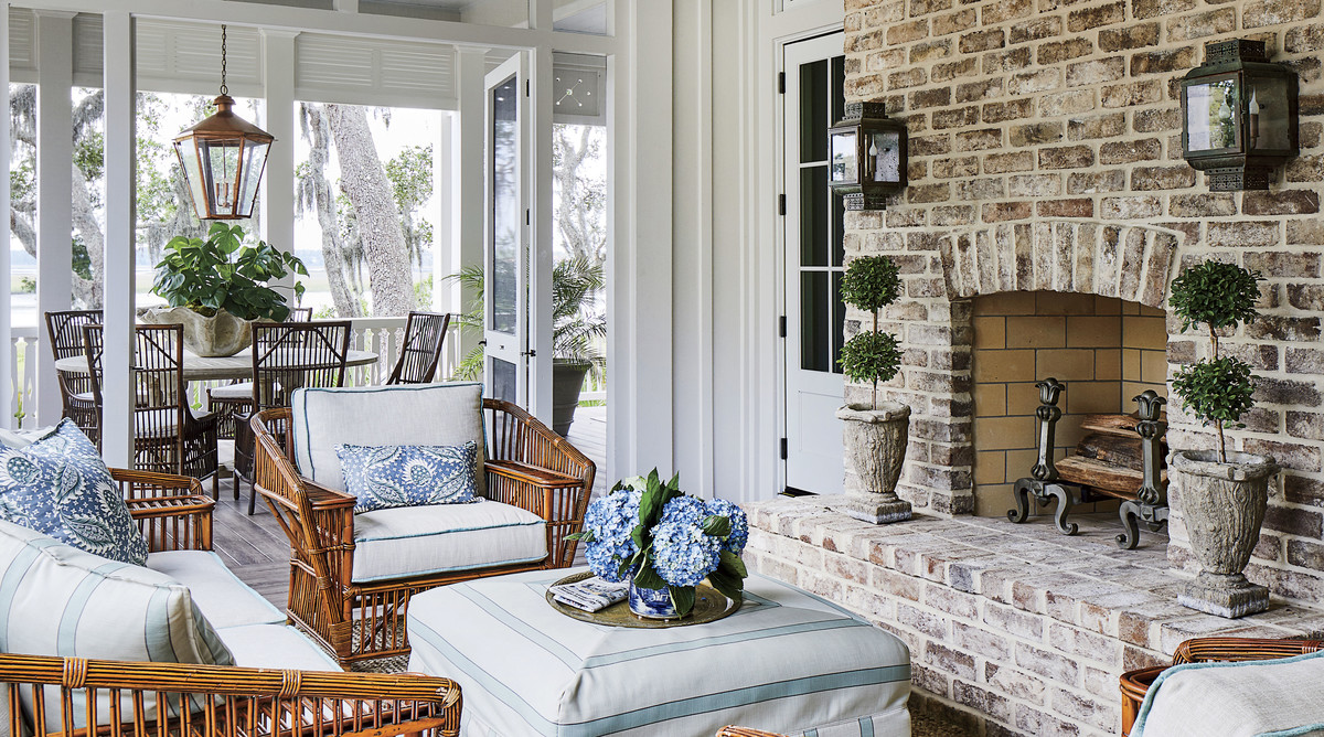 2019 Idea House Screened Porch Sitting Area