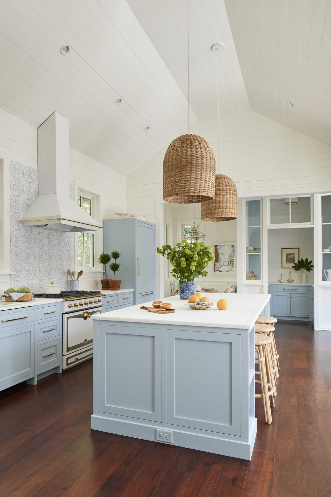 Julia Engel of Gal Meets Glam Charleston, SC Home Blue and White Kitchen
