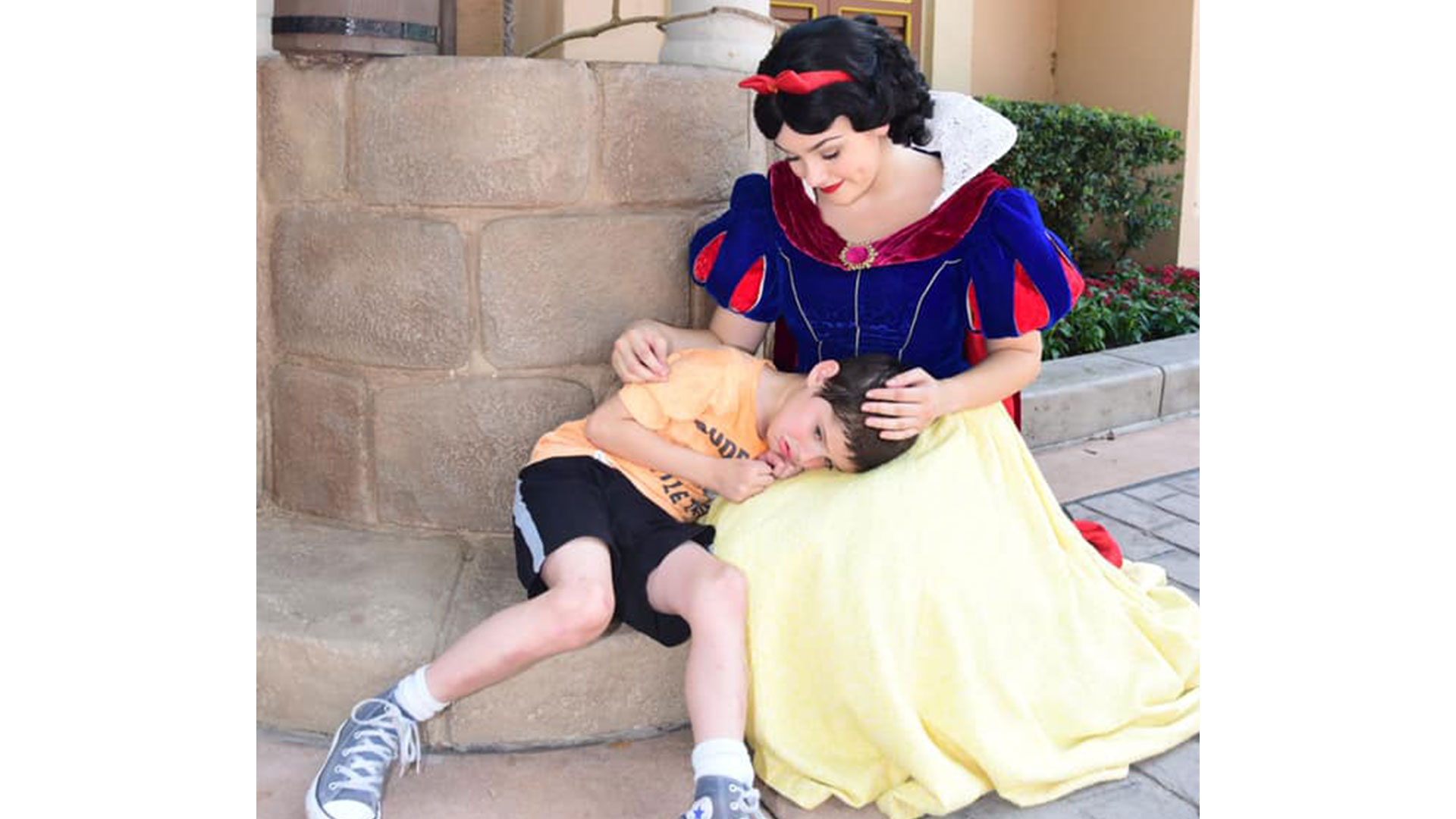 Snow White Comforts Boy with Autism