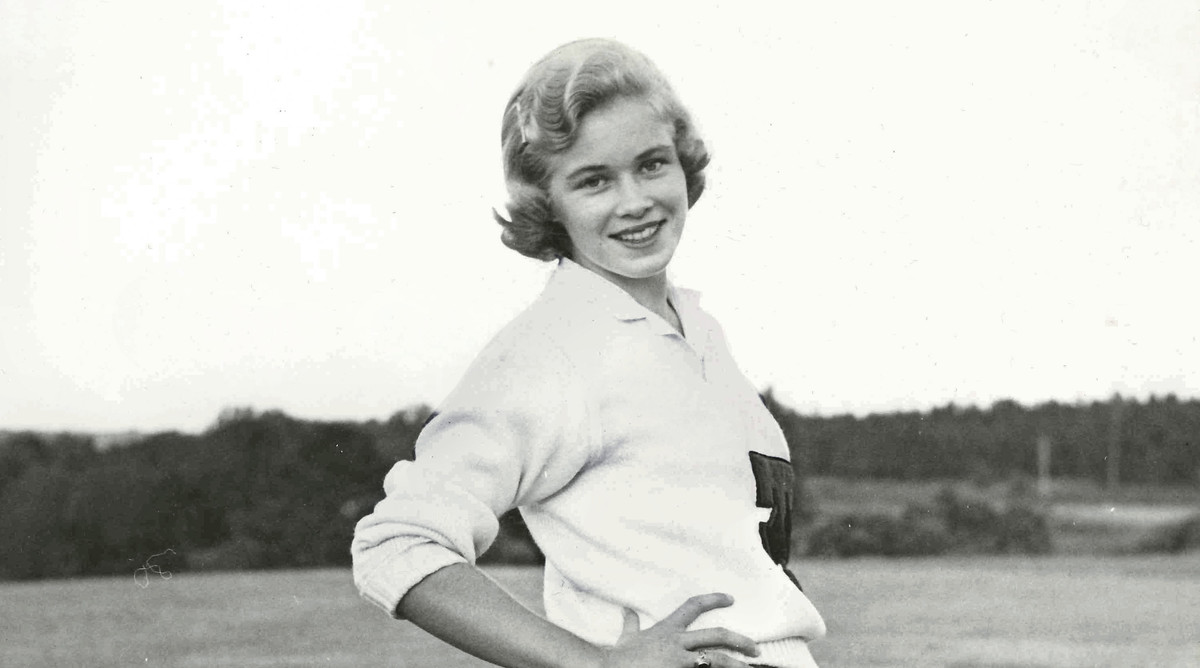 Grace Hayne's Grandmother Jane Braswell in Her Cheerleader Uniform at Tory University in 1958