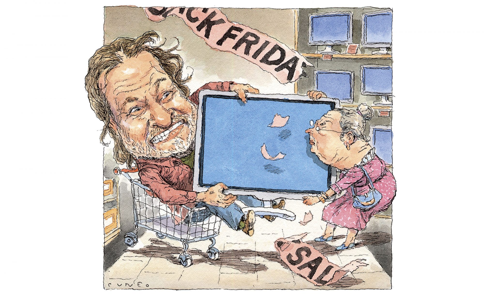 Rick Bragg Black Friday Illustration