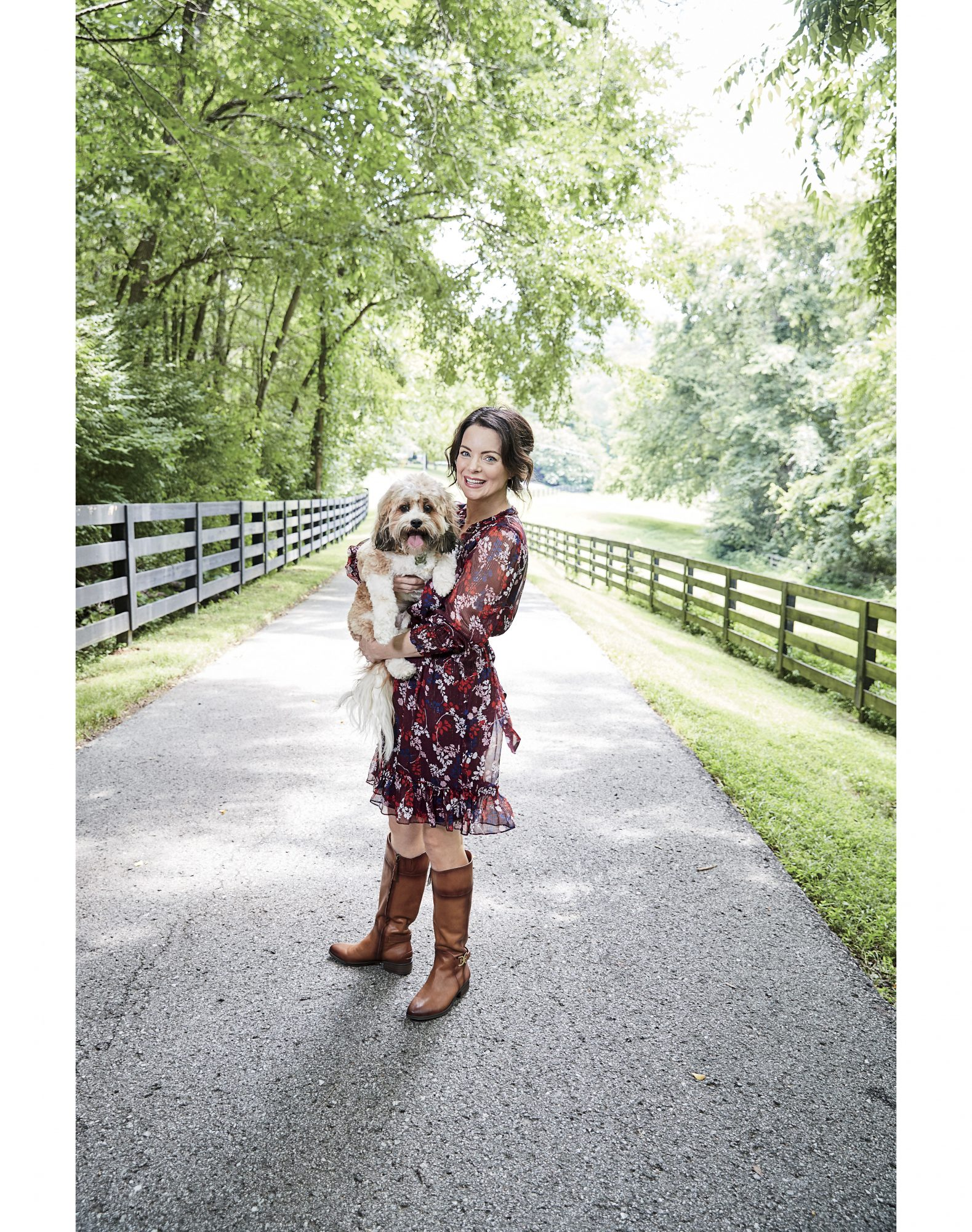 Kimberly Williams-Paisley with Dog Annie