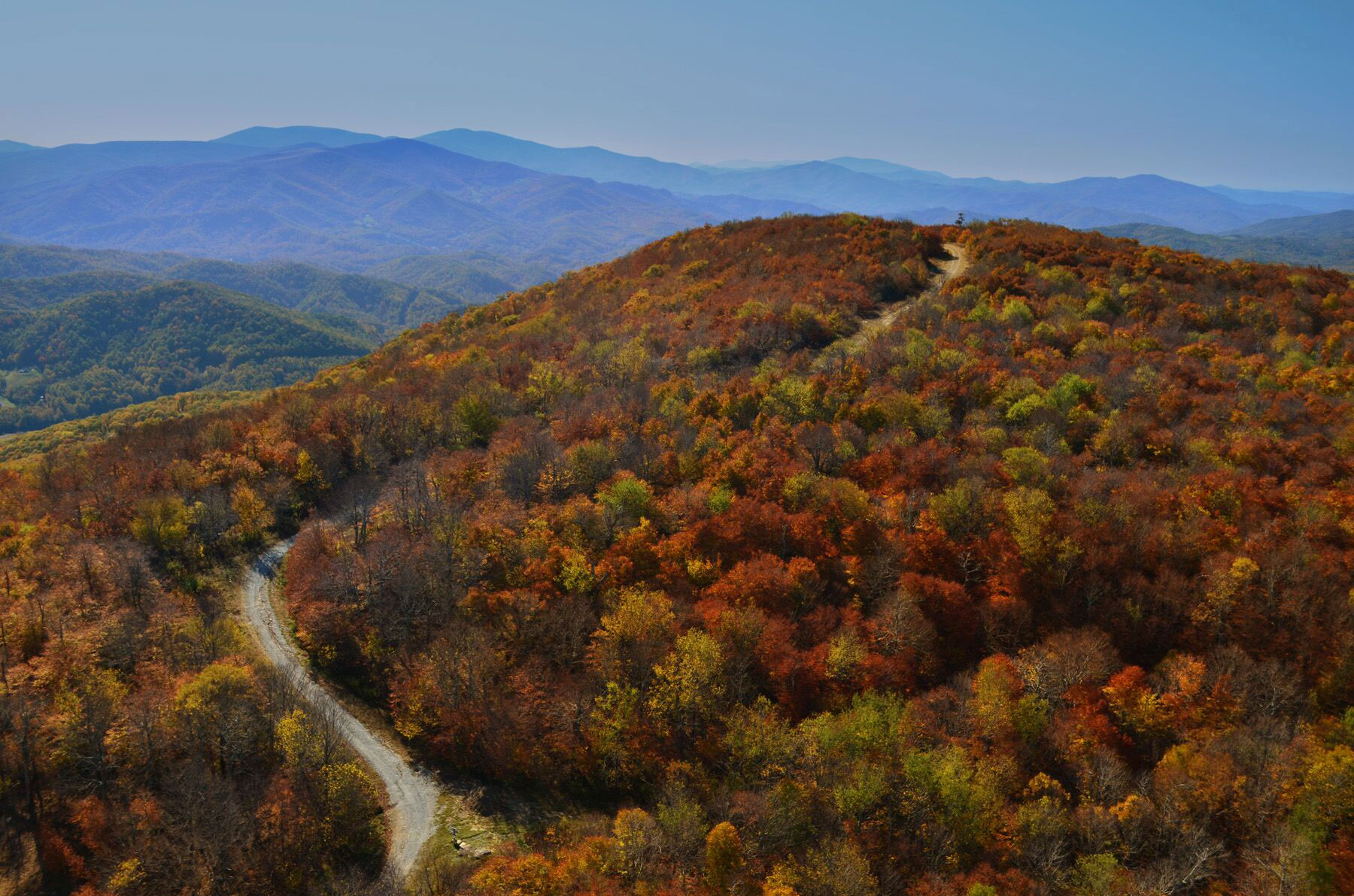 beech mountain nc fall