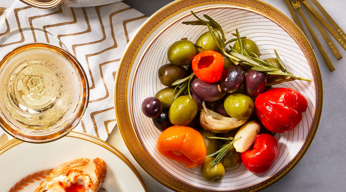 Marinated Olives and Peppadews