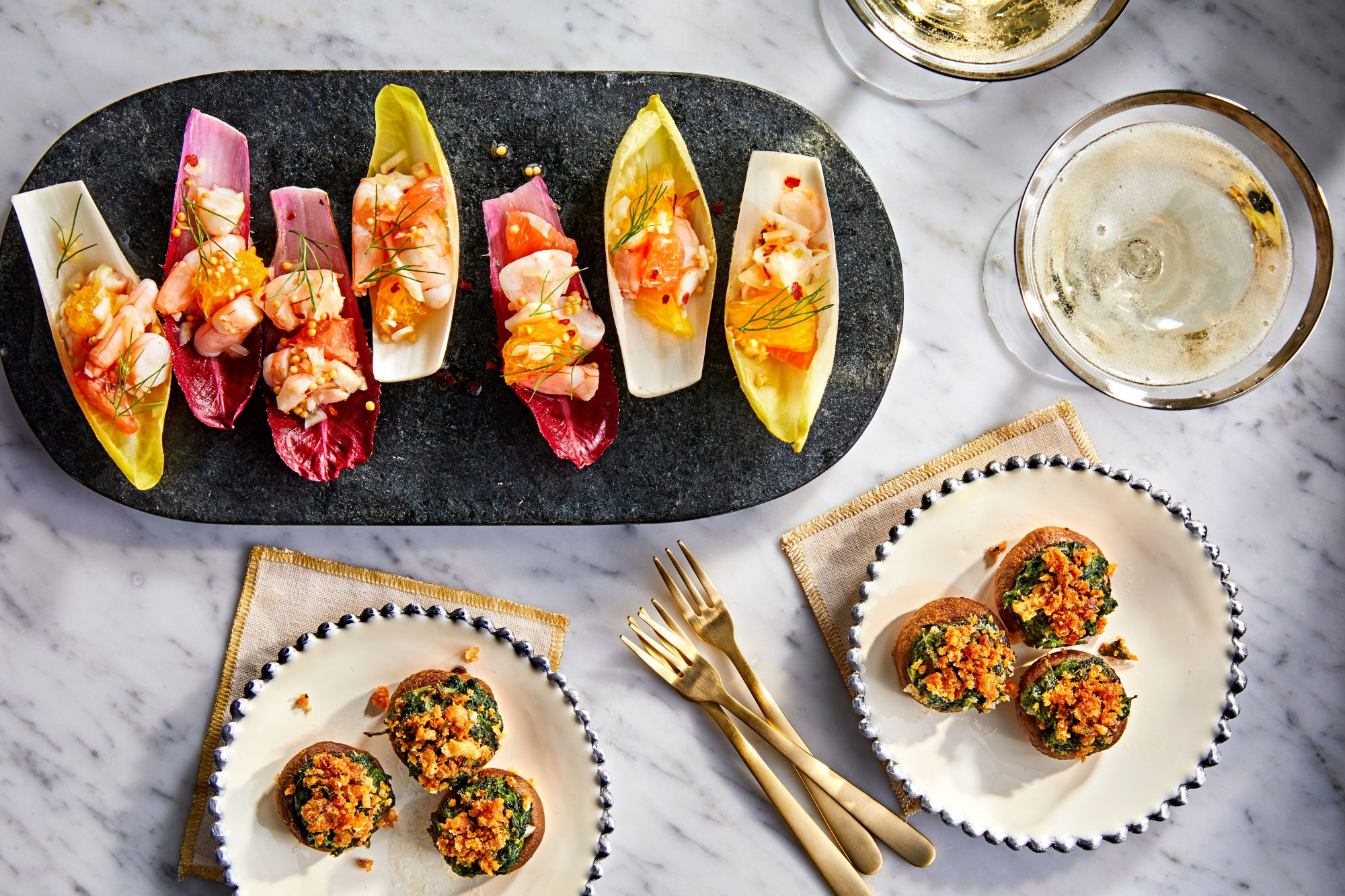 Pickled Shrimp-and-Citrus Endive Cups