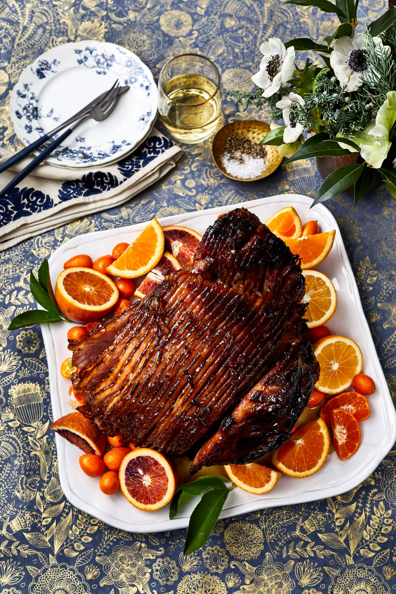 Baked Ham with Brown Sugar-Citrus Glaze