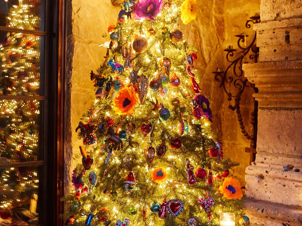 Whimsical Christmas Tree with Paper Flowers