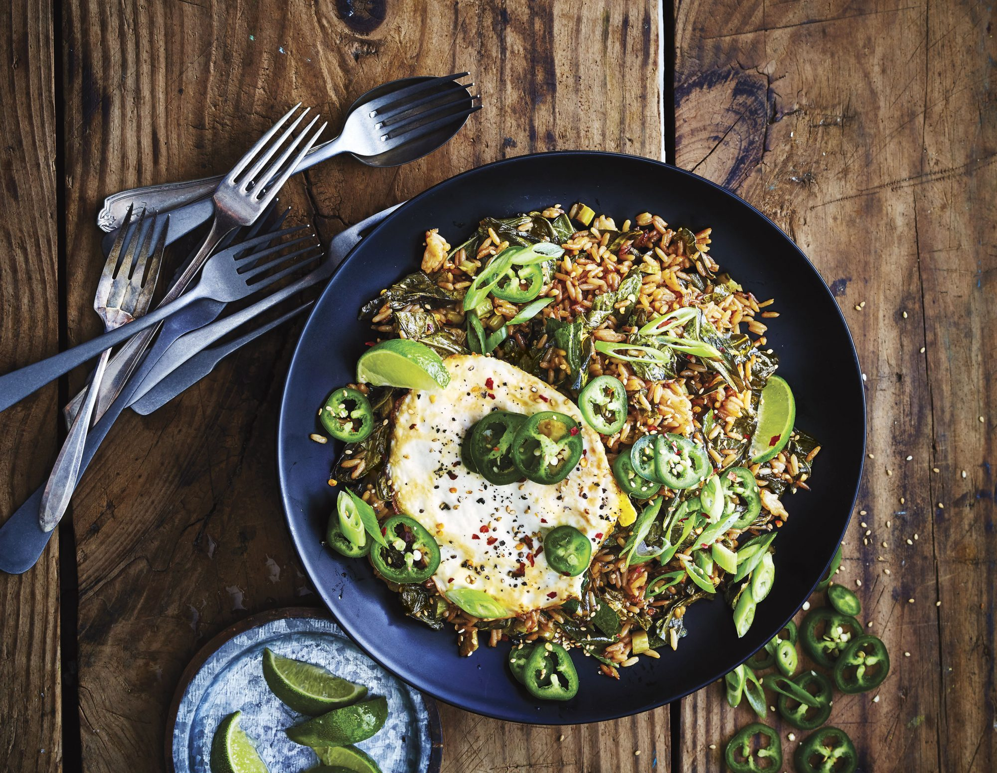 Ginger and Collard Green Fried Rice