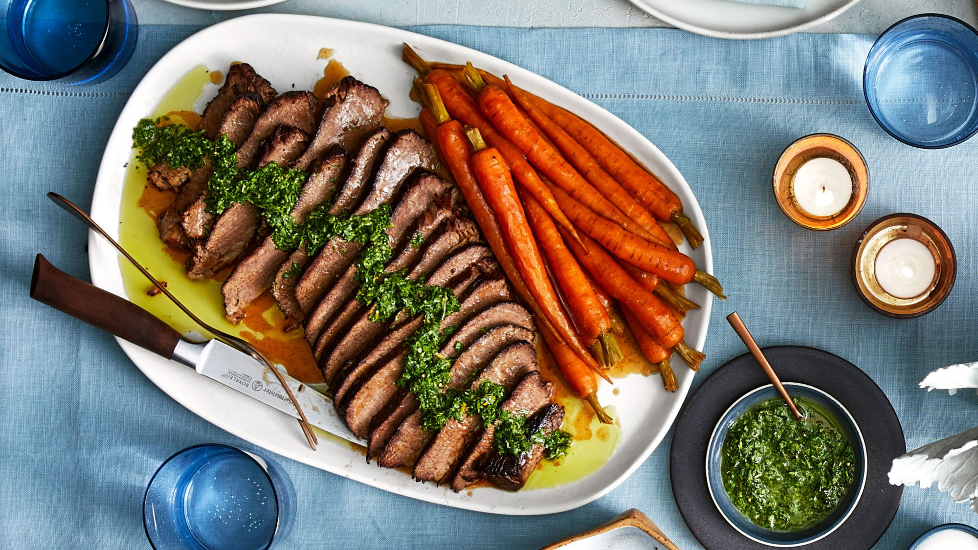 Brisket with Carrots and Horseradish-Parsley Gremolata