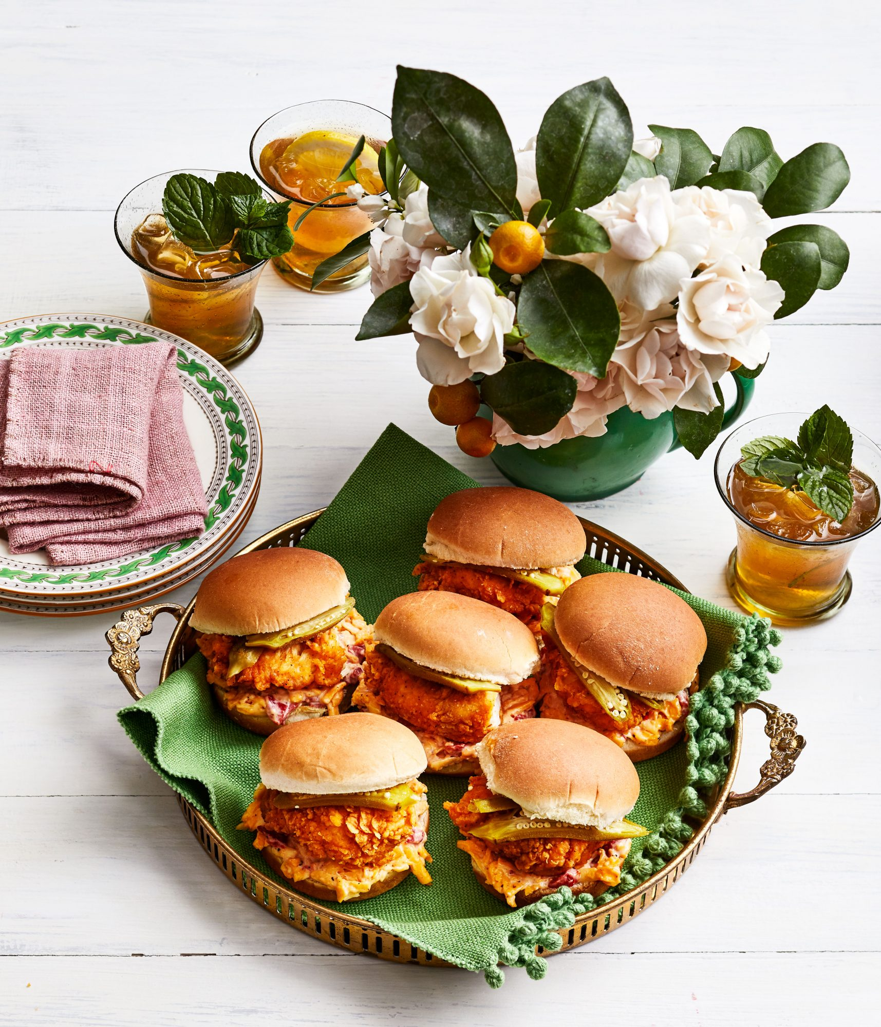 Fried Chicken Sliders with Pimiento Cheese