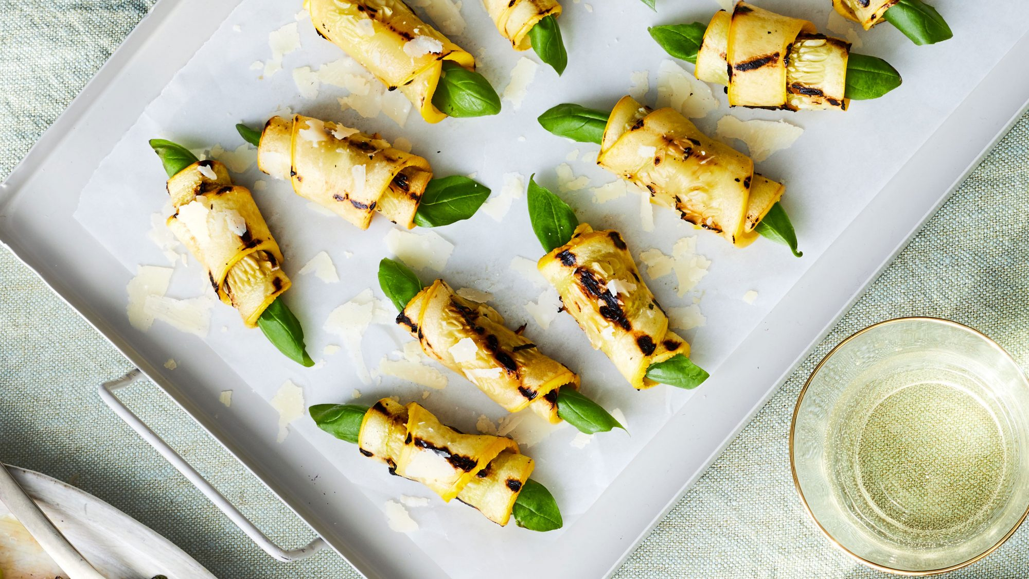 Grilled Yellow Squash Roll-Ups