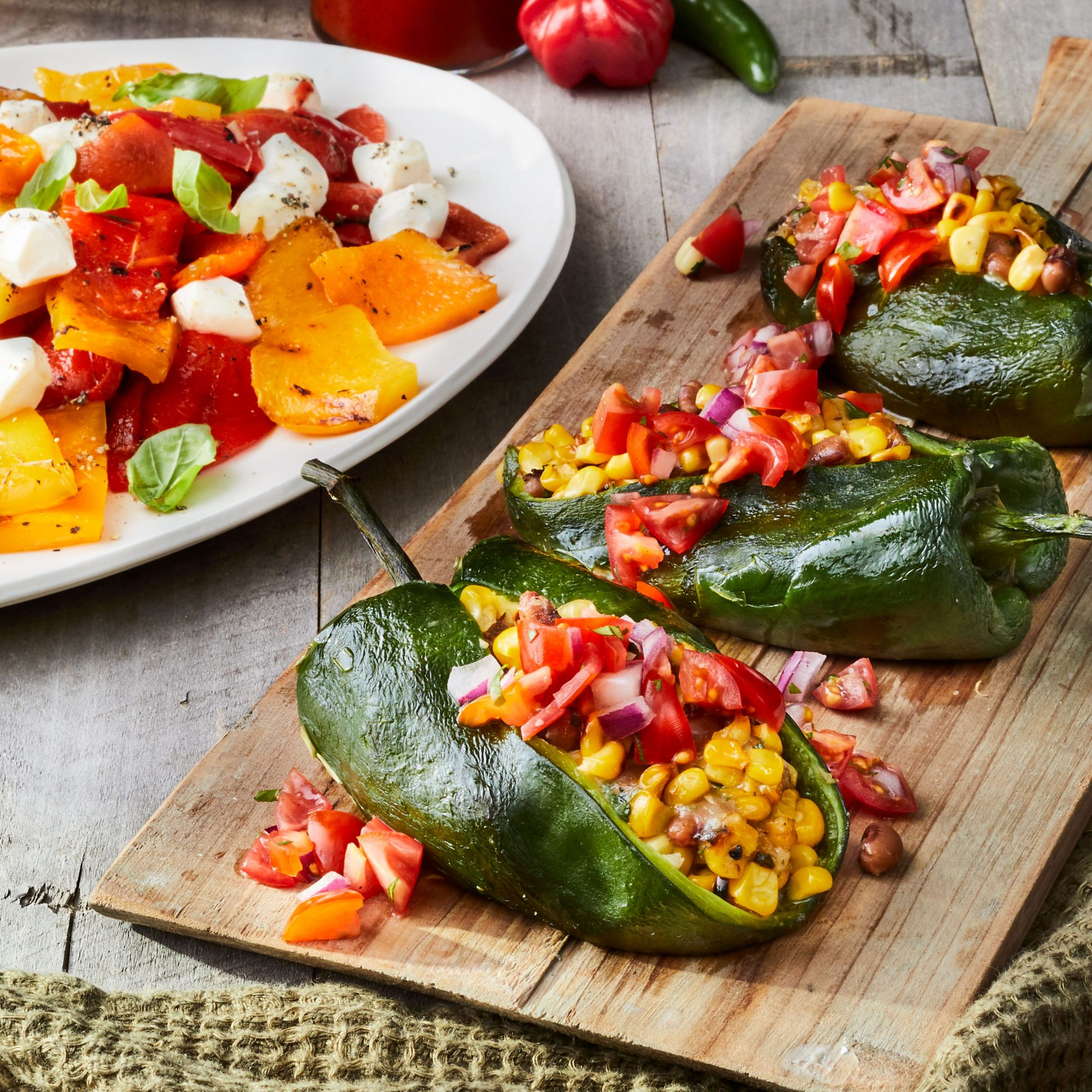 Grilled Stuffed Poblano Peppers