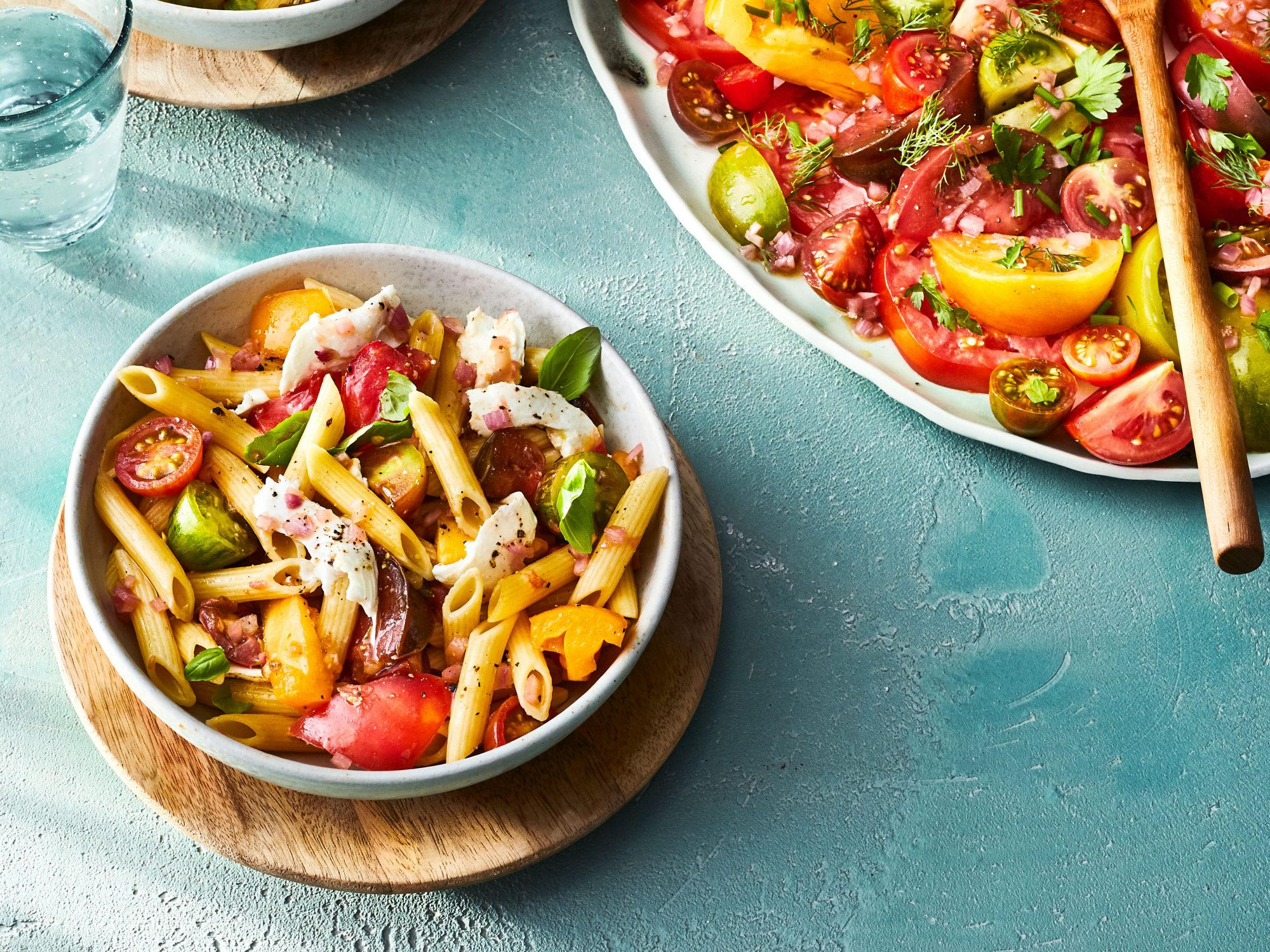 Pasta with Marinated Tomatoes