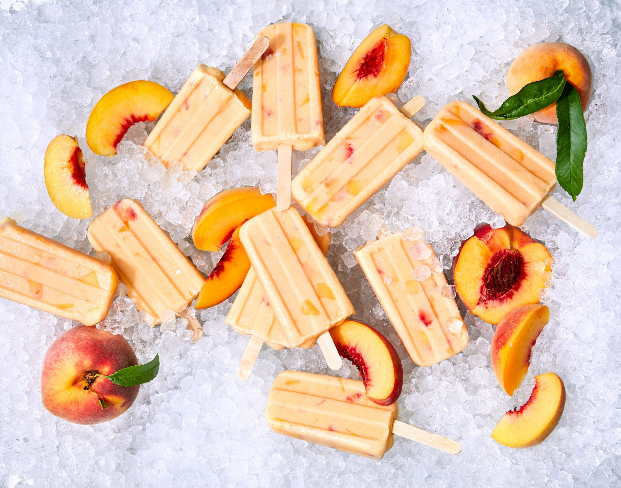 Buttermilk-Peach Popsicles