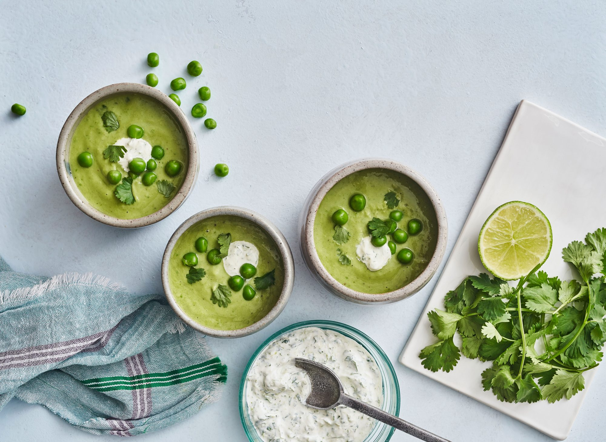 Sweet Pea-Avocado Soup