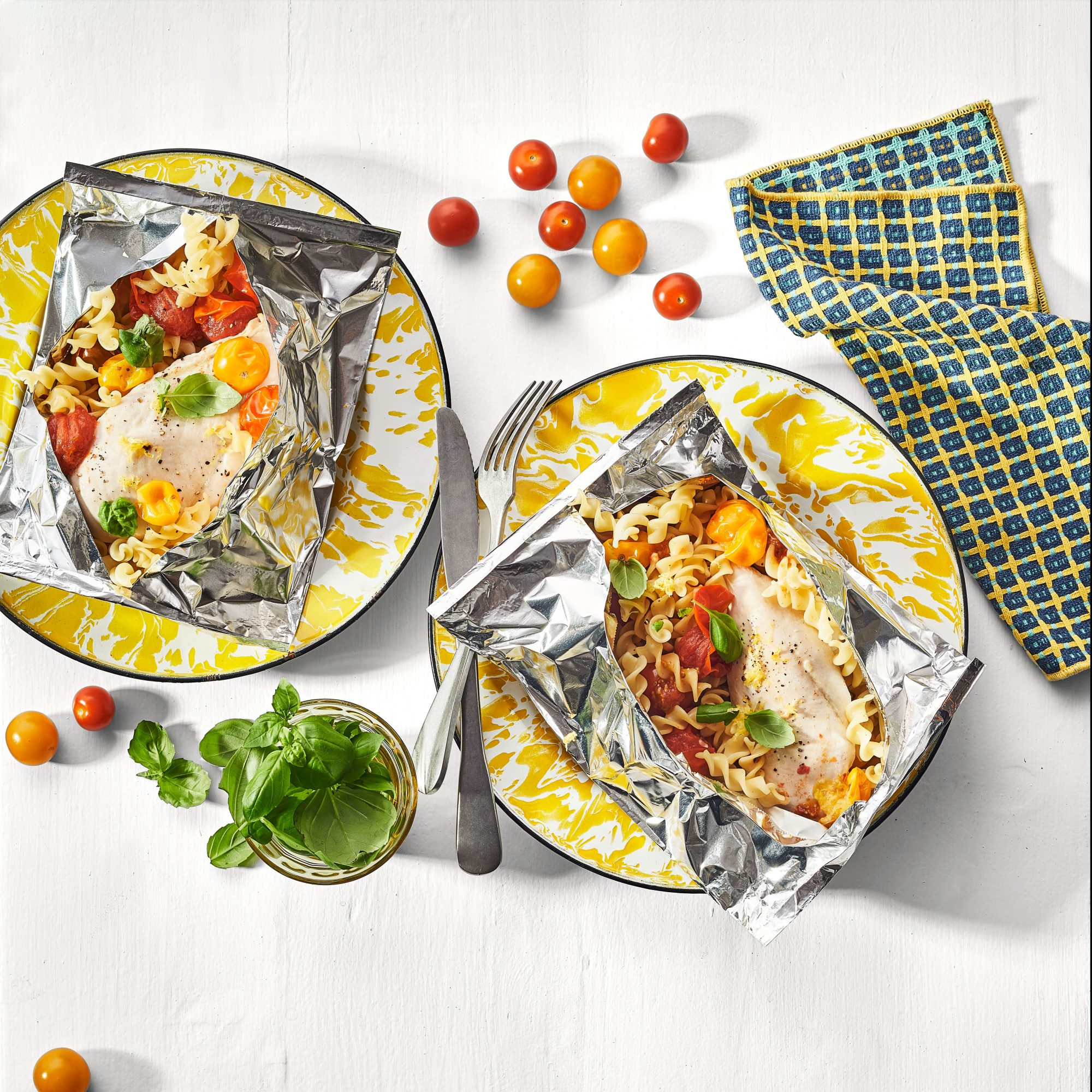 Lemon-Basil Chicken Breast Foil Packets