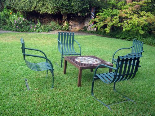 Where would you rather sit? On the lawn or on the gravel? Photo by Steve Bender.