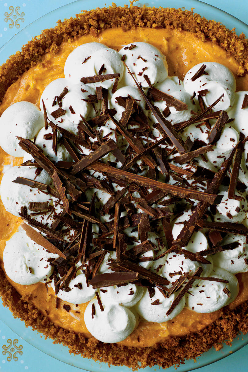 Black Bottom Pumpkin Pie